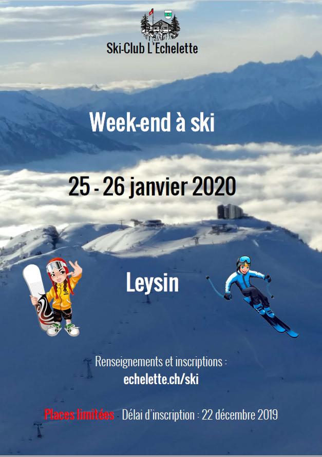 Week-end à ski 2020